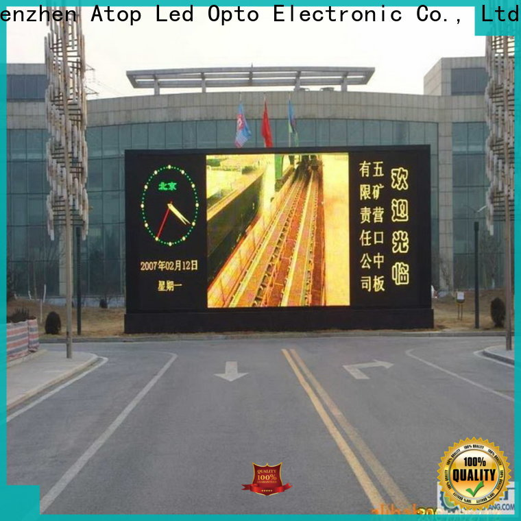 clear p10 outdoor led display price installation to meet different need for advertising