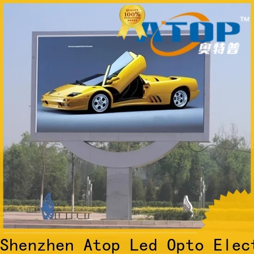 Atop led display screen price with the stringent quality standards in market