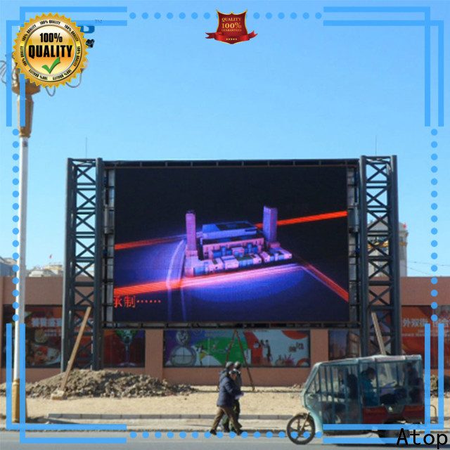 Atop antiinterference digital advertising screens with reliable quality for company advertising