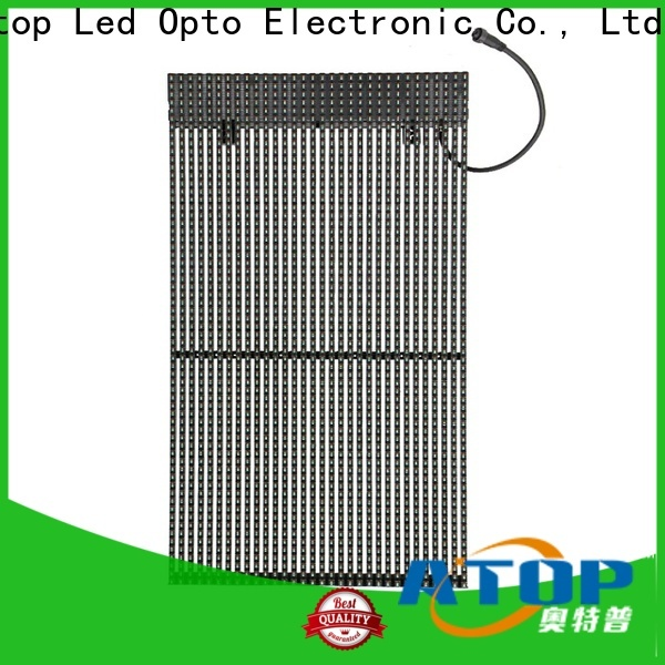 Atop design transparent led screen easy installation for events