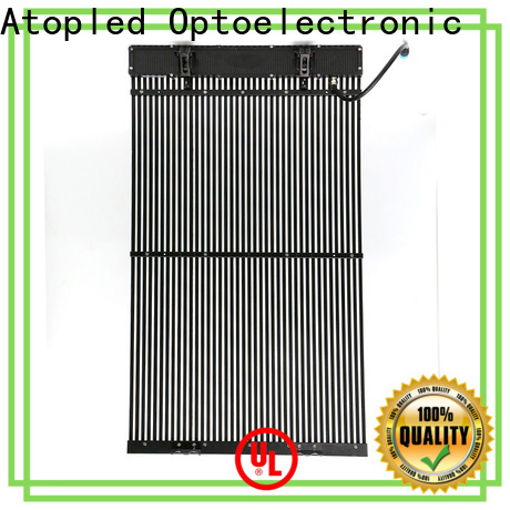 Atop easily transparent led screen price with high transparency for brand chain stores