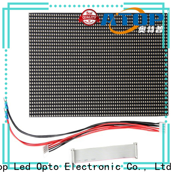 Atop screen led display module for advertising