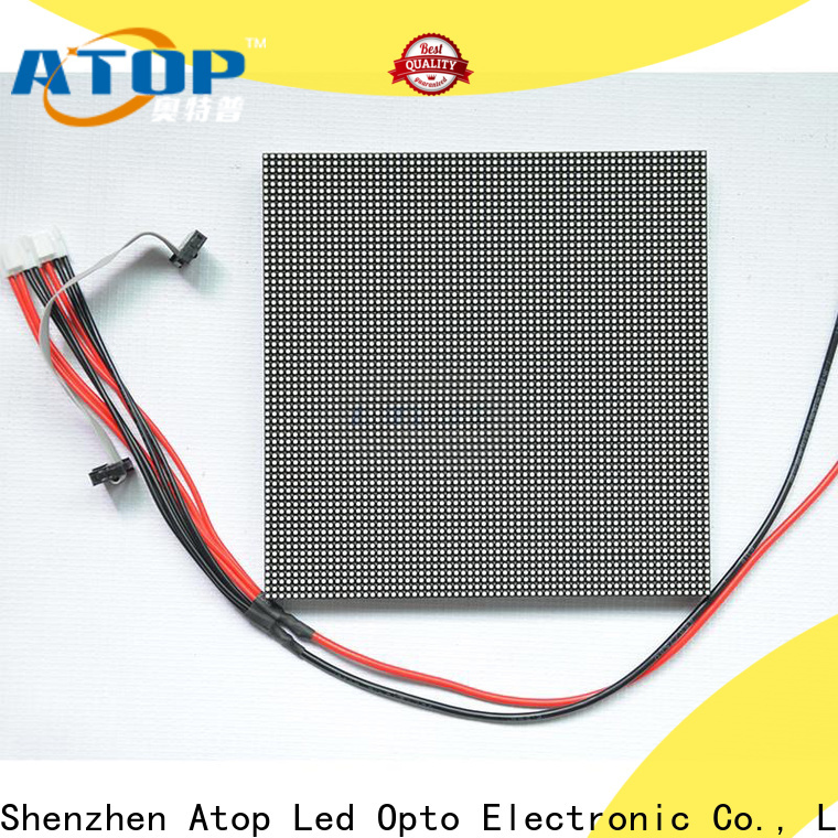 Atop customized led module price for indoor rental led display