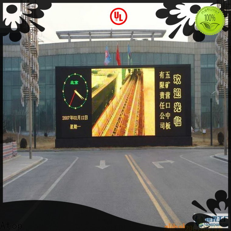 Atop installation led video wall panels with relaible quality in market、