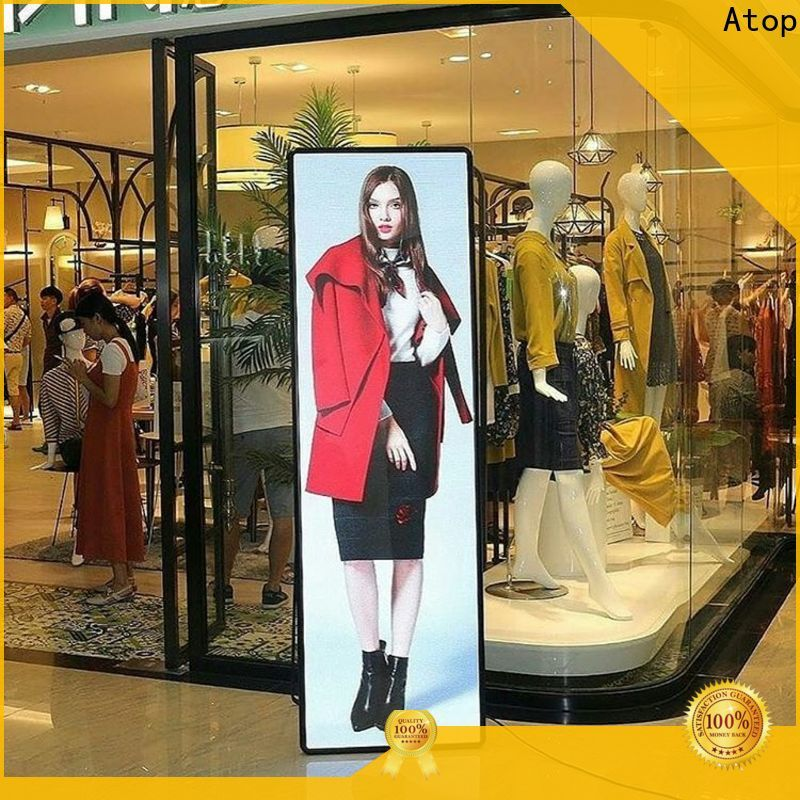 professional poster light box displays with high transparency for events