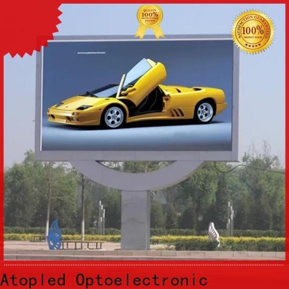 Atop custom led digital display board with reliable quality for both outdoor and indoor