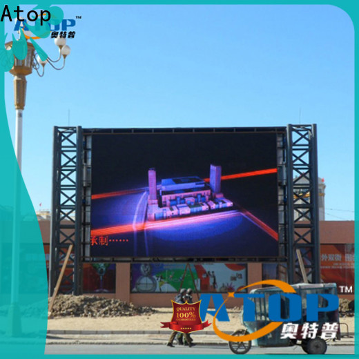 Atop alloy large outdoor led display screens easy maintenance for company advertising