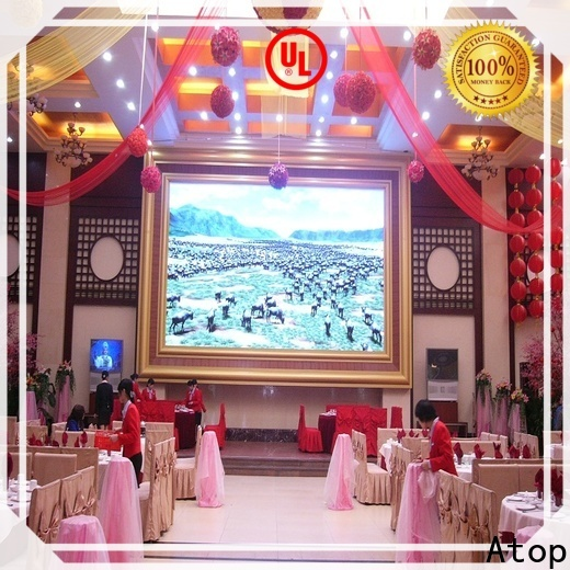 Atop wide view angle led video wall for sale with best color uniformity for indoor led display