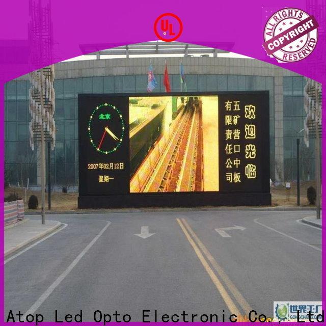 online outdoor led display installation to meet different need in market、