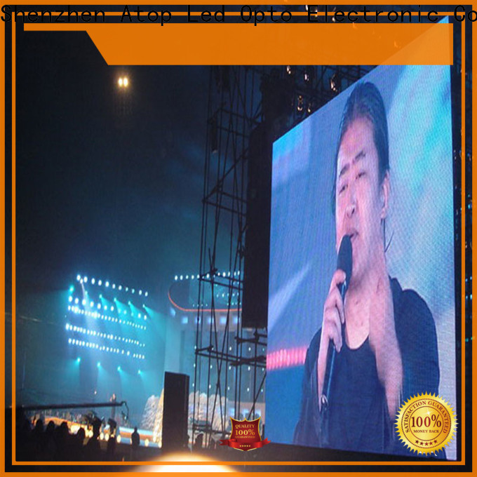 Atop outdoor led panel video with reliable quality in market