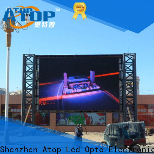 reliability outdoor advertising led display screen screen with high precision in market