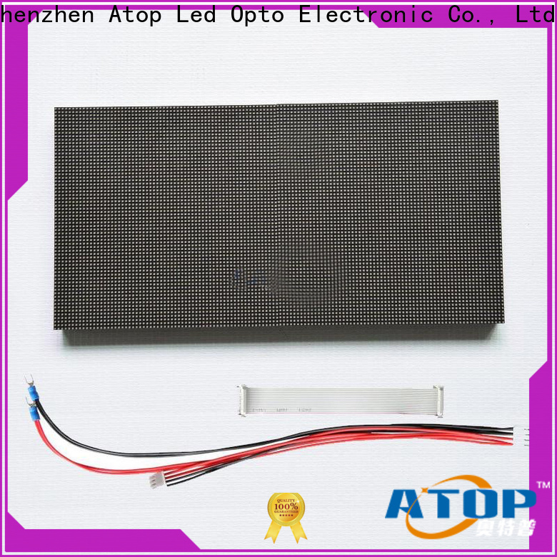 Atop high quality rgb led module with relaible quality for indoor rental led display