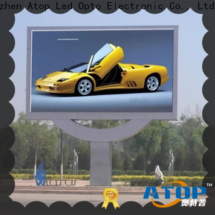 Atop high-quality energy saving led display with high precision for both outdoor and indoor