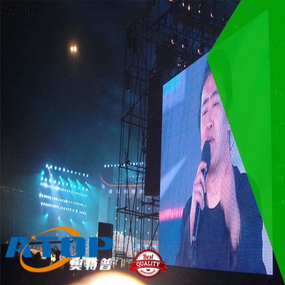 Atop screen large outdoor led display screens with high precision in market