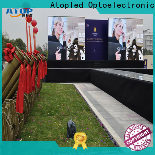 Atop light electronic billboards with reliable quality for company advertising