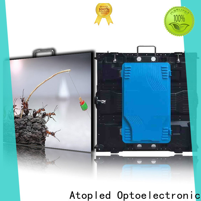 Atop custom led screen wall with reliable quality for both outdoor and indoor