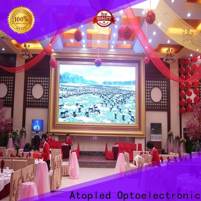 Atop customized led advertising screen with reliable driving IC for advertising