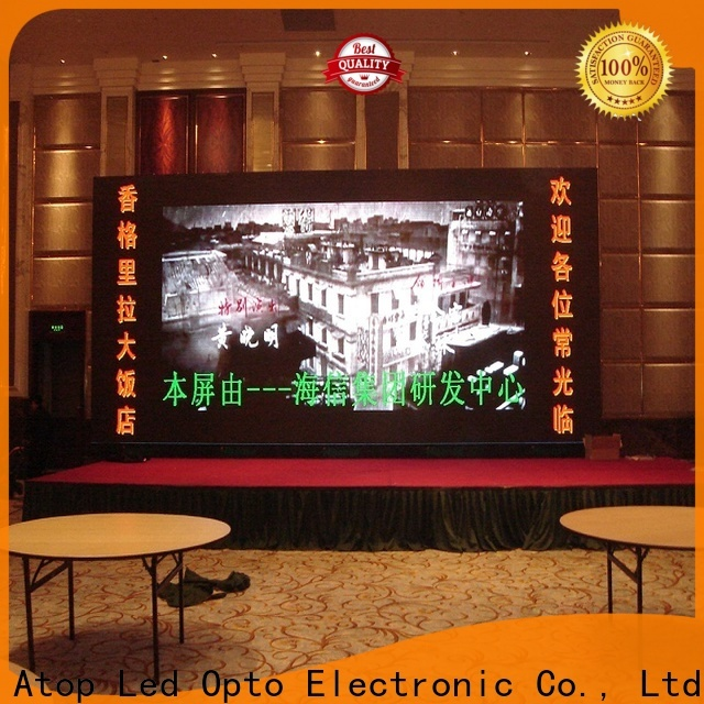 Atop wide view angle video panel with best color uniformity for advertising