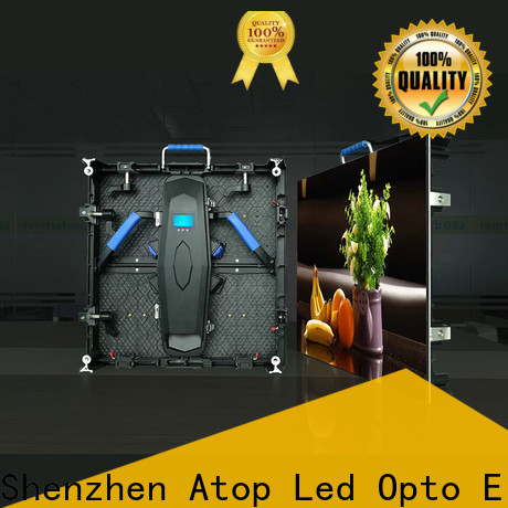 Atop cost-effective led video screen rental easy assembling for indoor rental led display
