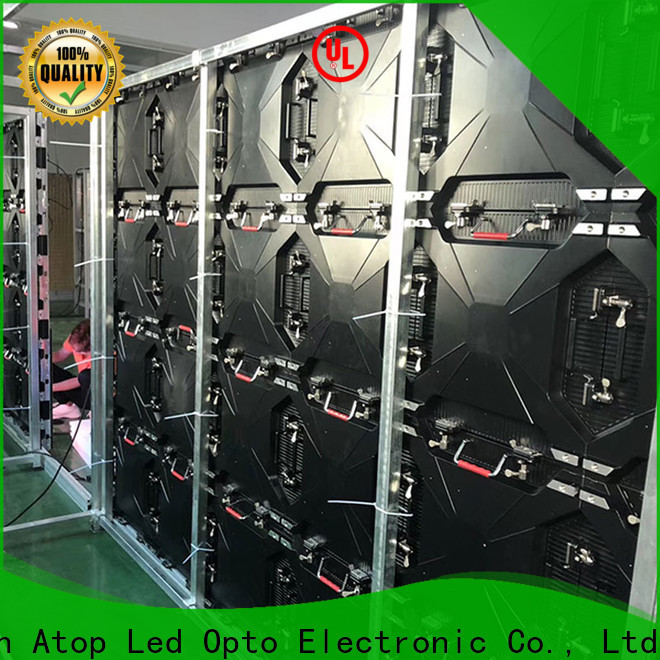 Atop wall led screen on rent easy assembling for LED screen