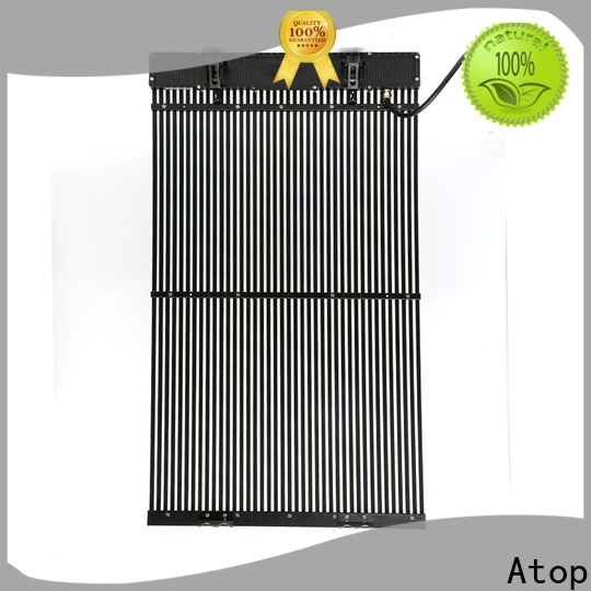 Atop ultrathin transparent led panel easy installation for brand chain stores