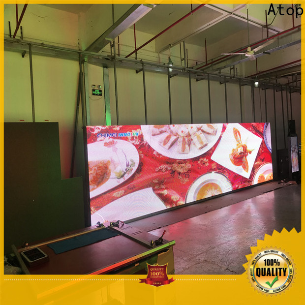 Atop led display screen price with high precision for both outdoor and indoor