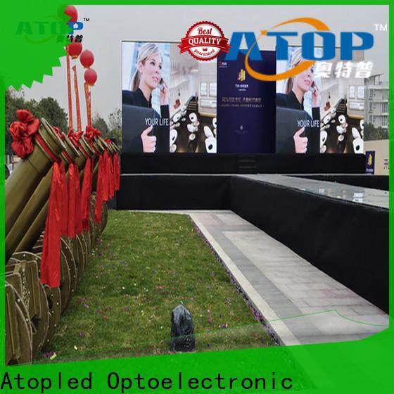 Atop custom led digital display easy assembling for indoor rental led display