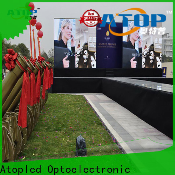 Atop custom led digital display easy assembling for indoor rental led display