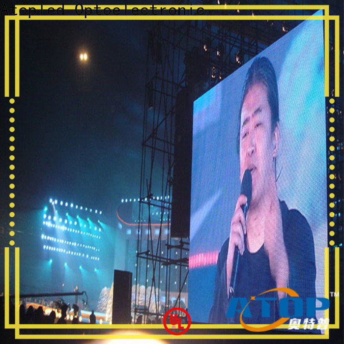 Atop custom led screen hire with reliable quality for company advertising