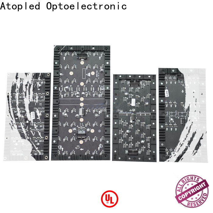 Atop online flexible led sign easy to assemble for shaped stage background