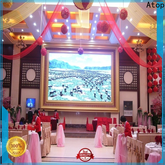 Atop good consistency large led screen with reliable driving IC for advertising