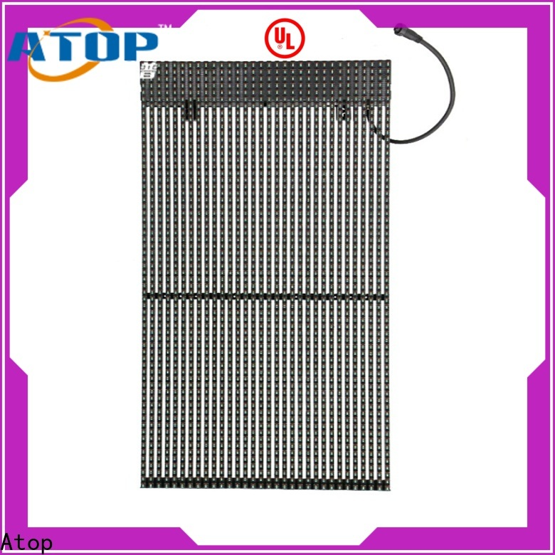 elegant transparent led screen thin with low temperature for stages