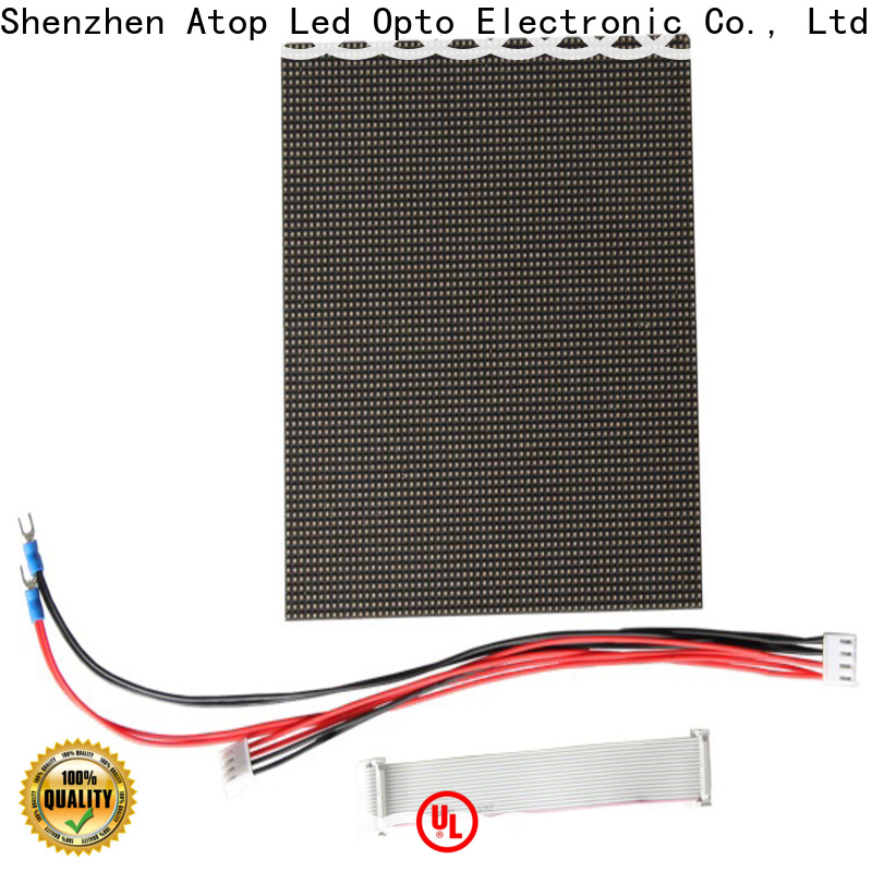 Atop customized full color led module easy operation for advertising