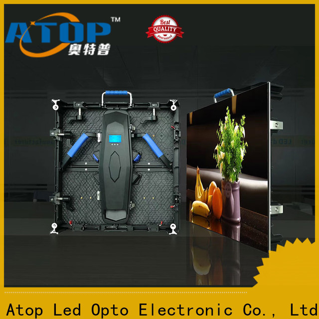 Atop video led stage screen rental easy assembling for LED screen