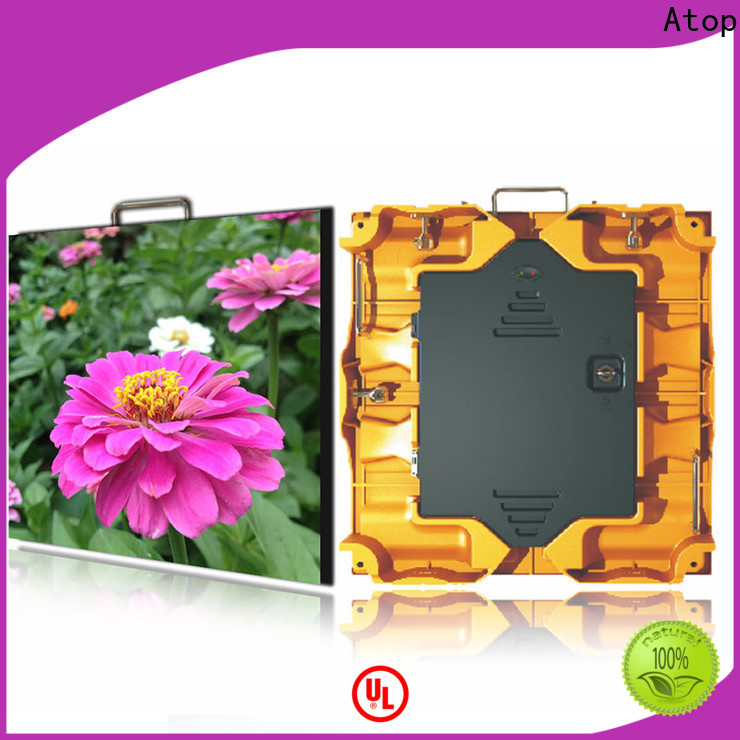 Atop smd led screen on rent easy assembling for your led display applications