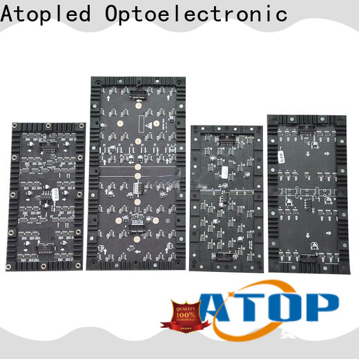 Atop led flexible led sign with flexible design for shaped stage background