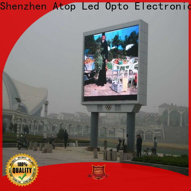 Atop installation p6 led screen to meet different need for both outdoor and indoor