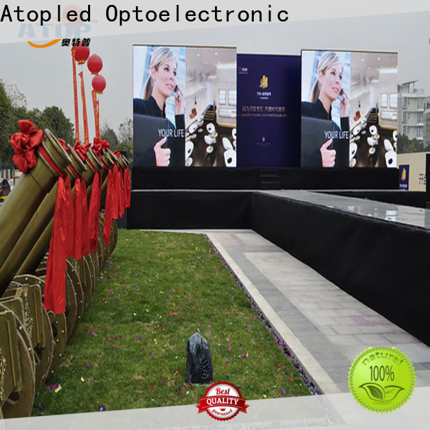 Atop advertising led screen rental easy assembling for your led display applications