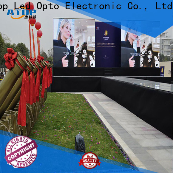 automatically outdoor advertising led display screen antiinterference with reliable quality for both outdoor and indoor