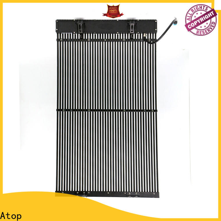 Atop professional transparent led display screen easy maintenance for stages