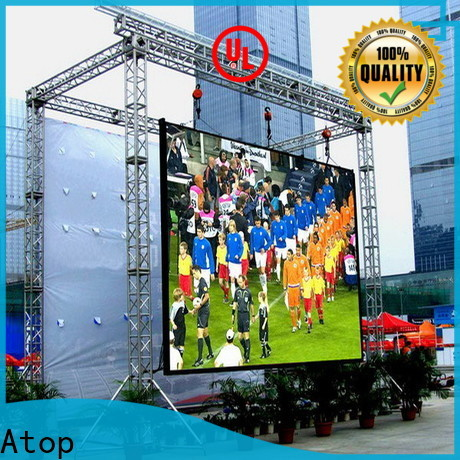 Atop clear p10 led display on sale in market、