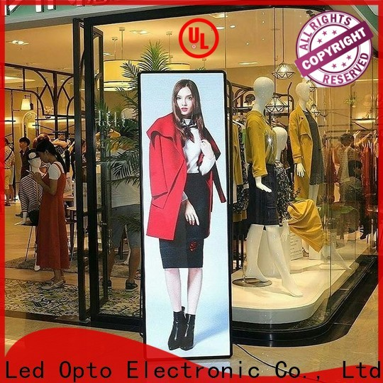 Atop led poster display easy maintenance for events
