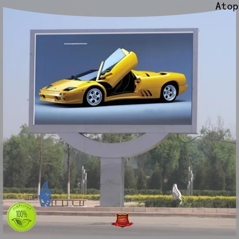 Atop outdoor video screens with high precision for company advertising