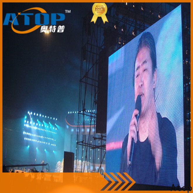 Atop anti-interference outdoor rental led display with reliable quality for both outdoor and indoor