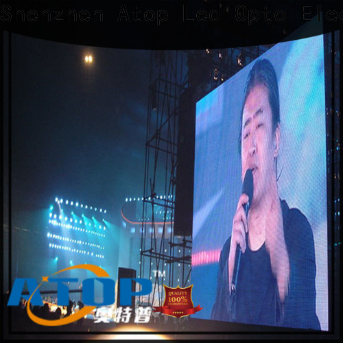 Atop custom outdoor rental led display with reliable quality for both outdoor and indoor
