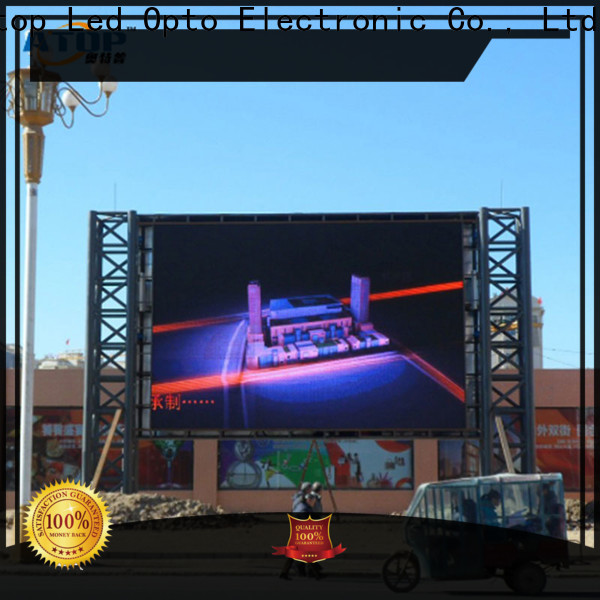 Atop display digital advertising board easy maintenance for company advertising