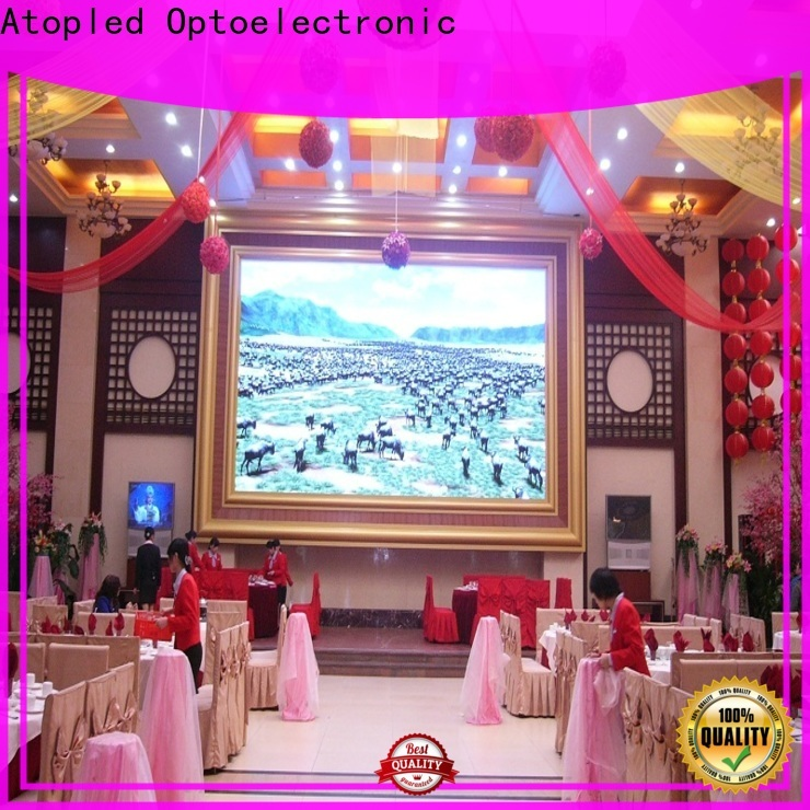 Atop color led video wall for sale with relaible quality for indoor led display