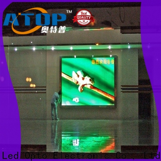 Atop mounted indoor led billboard with best color uniformity for indoor led display