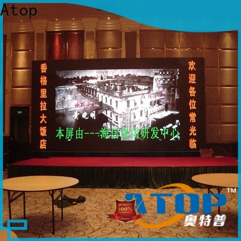 Atop led video panel with best color uniformity for indoor led display
