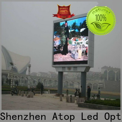 waterproof full color led sign installation for advertising